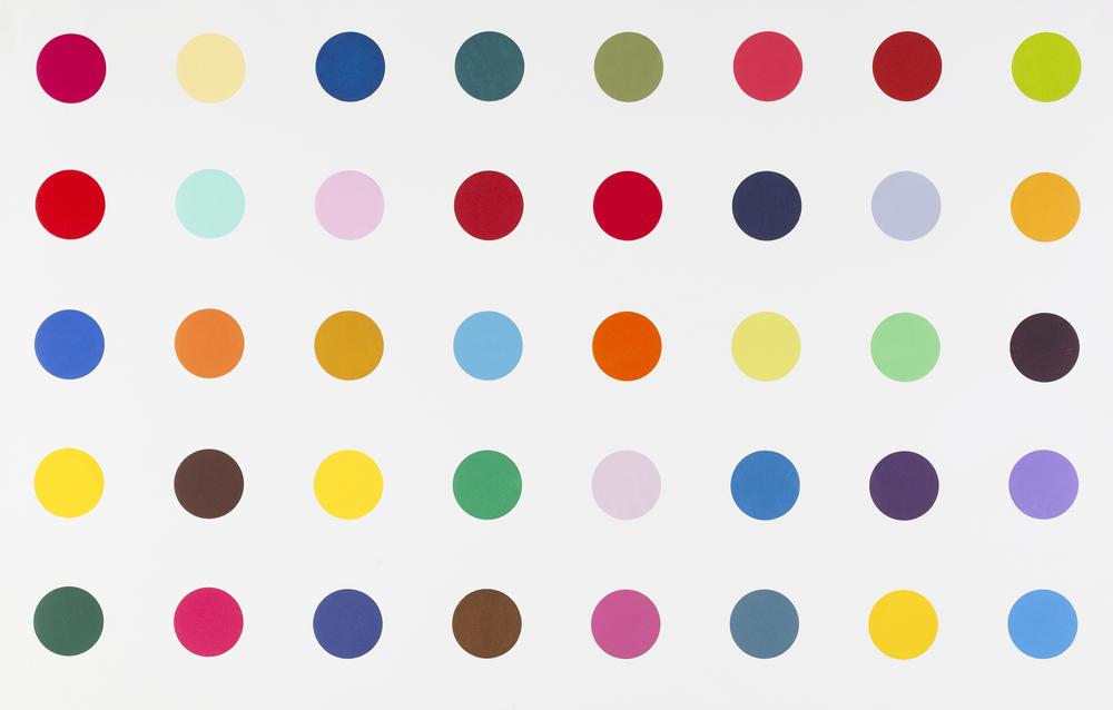Damien Hirst  Methyl Phenylsufoxide •2010   Xilogravura   Edição: 28/48   104.2 x 162.5 cm