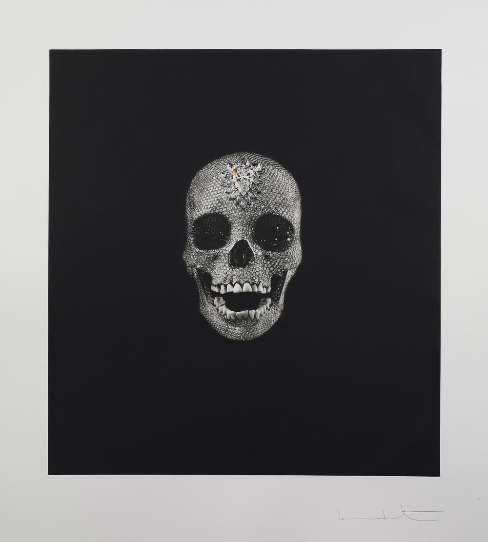 Damien Hirst   Victory Over Death •2008   Fotogravura e guache   Edição: 58   119.6 x 108.4 cm
