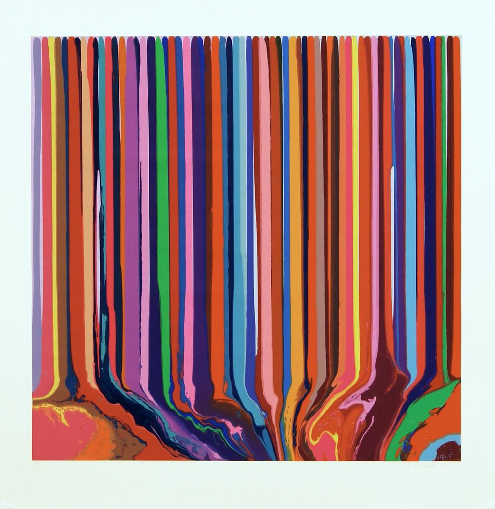 Ian Davenport  Pale Blue/Lilac Duplex Colorplan • 2013 Gravura em metal Edição: 30 Papel: 116 x 112.5 cm Imagem: 98.5 x 96.5 cm