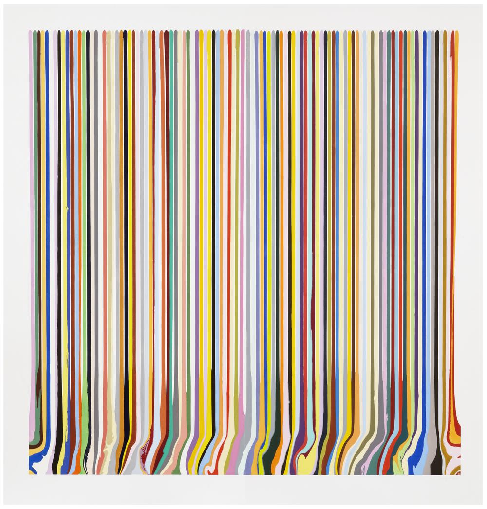 Ian Davenport  Prismatic Diptych •2011 Gravura em metal Edição: 15   199.5 x 193.0 cm