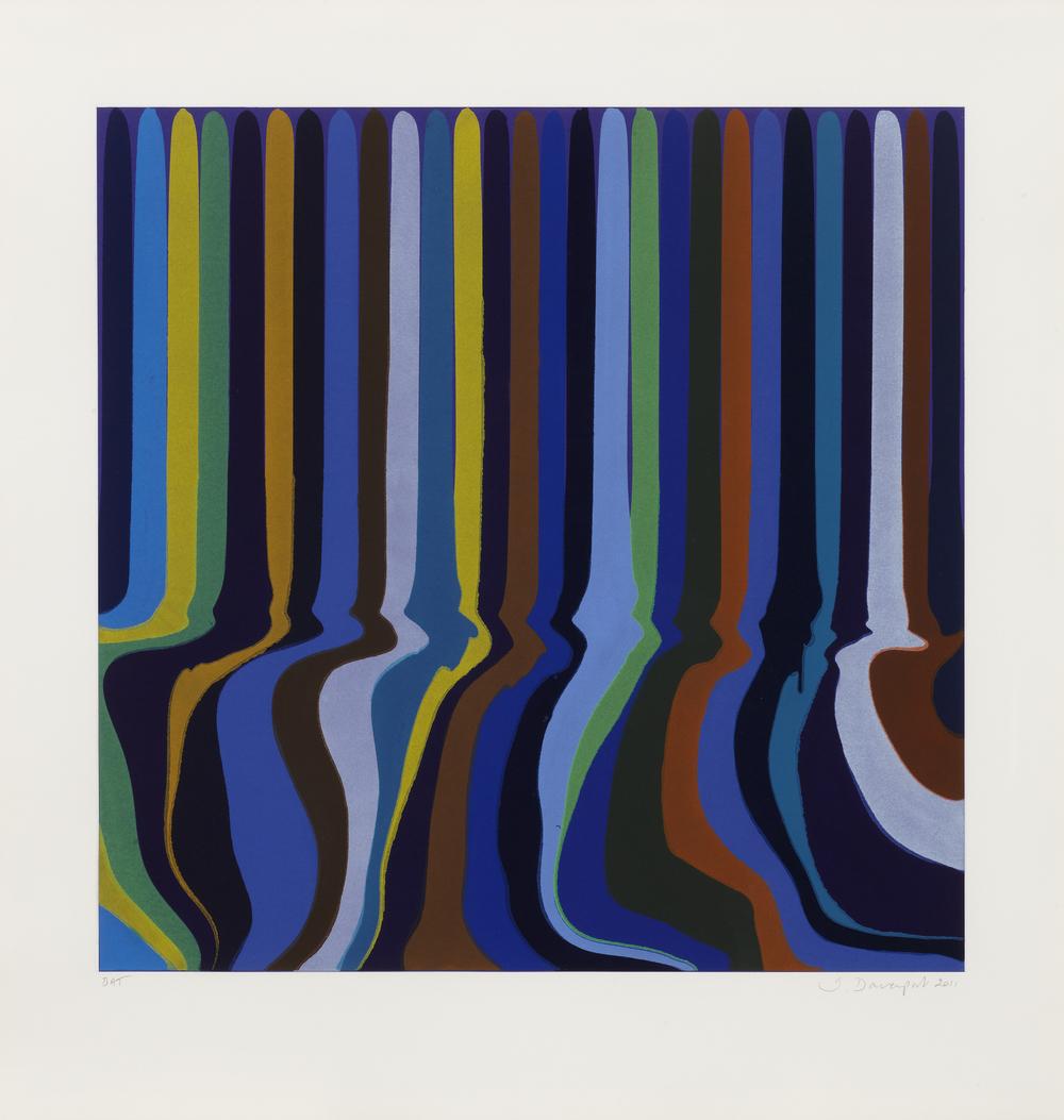 Ian Davenport  Royal Blue •2011 Gravura em metal   Edição: 30 Papel: 83 x 80 cm/ imagem: 63.8 x 63.8 cm