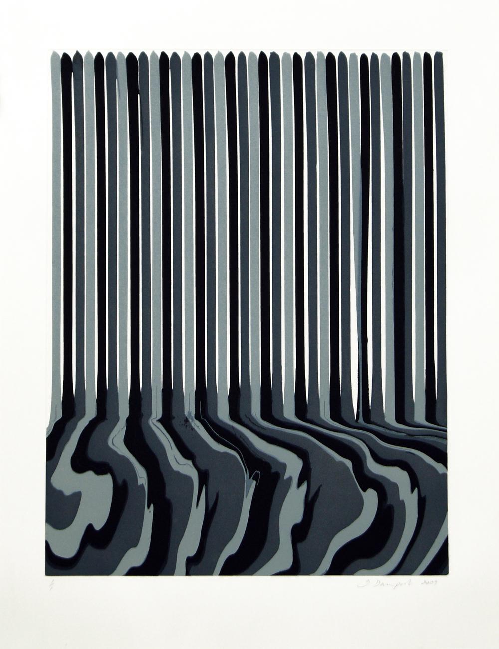 Ian Davenport  Etched  Puddle: 16 • 2009 Gravura em metal Edição: única Papel: 86.5 x 67.0