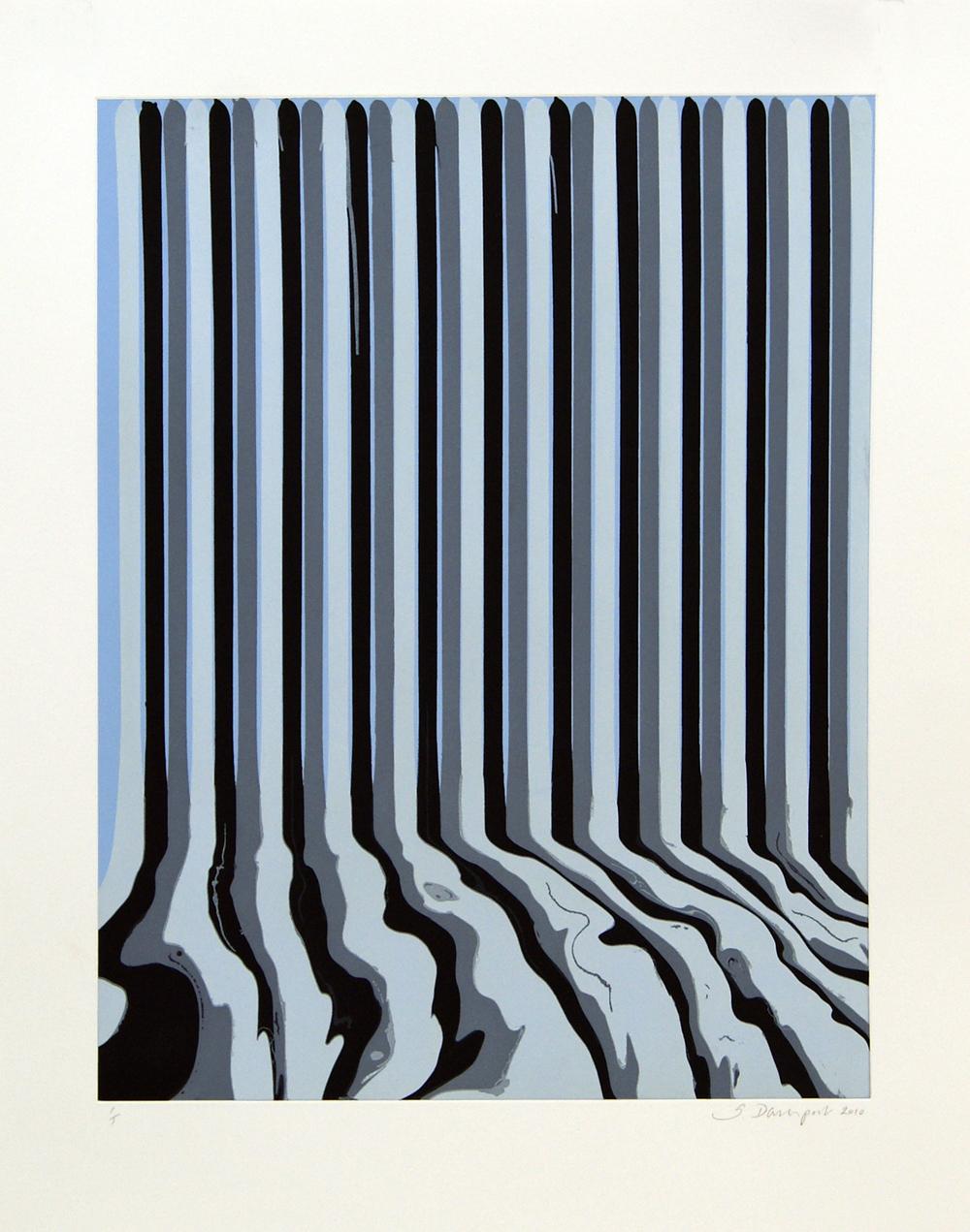 Ian Davenport    Etched Puddle: 23 • 2009 Gravura em metal Edição: única Papel: 86.5 x 67 cm