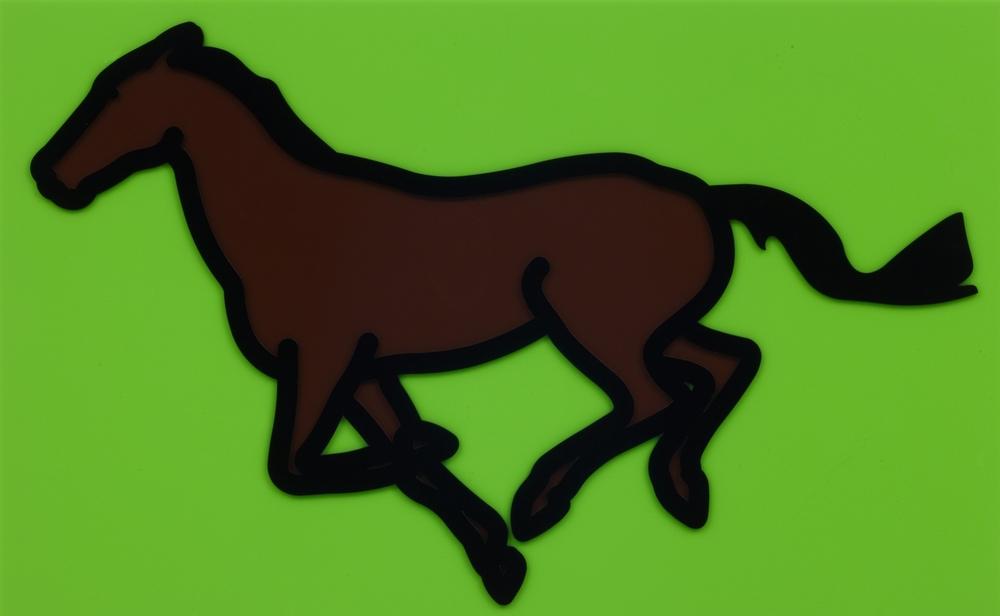 Julian Opie  Galloping Horse 3 •2013 Acrílico Edição: 35 61.4 x 100 cm