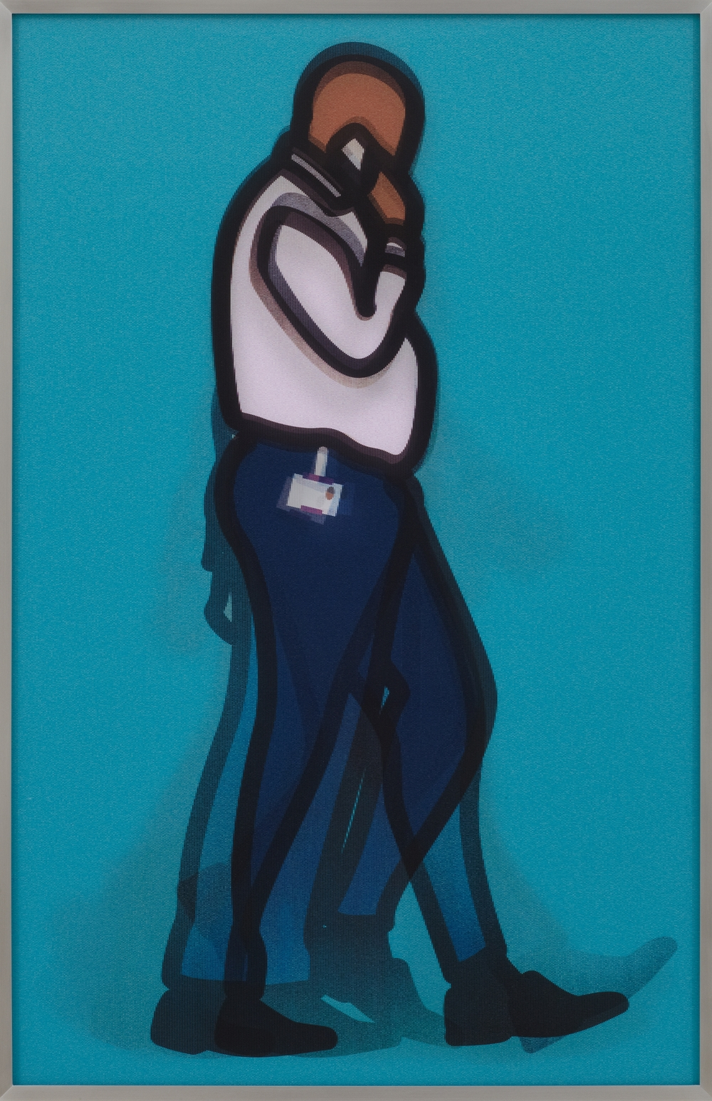 Julian Opie  Detective • 2014 Llenticular e Alumínio Edição: 50 85.4 x 55.6 cm