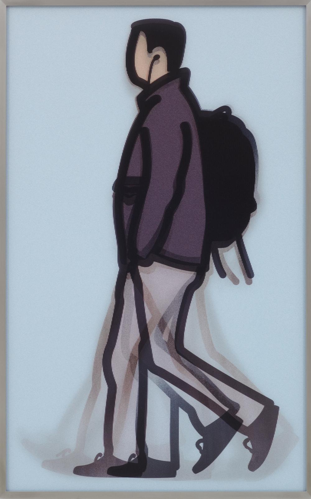 Julian Opie  Student • 2014 Lenticular e Alumínio Edição: 50 83.1 x 52.2 cm