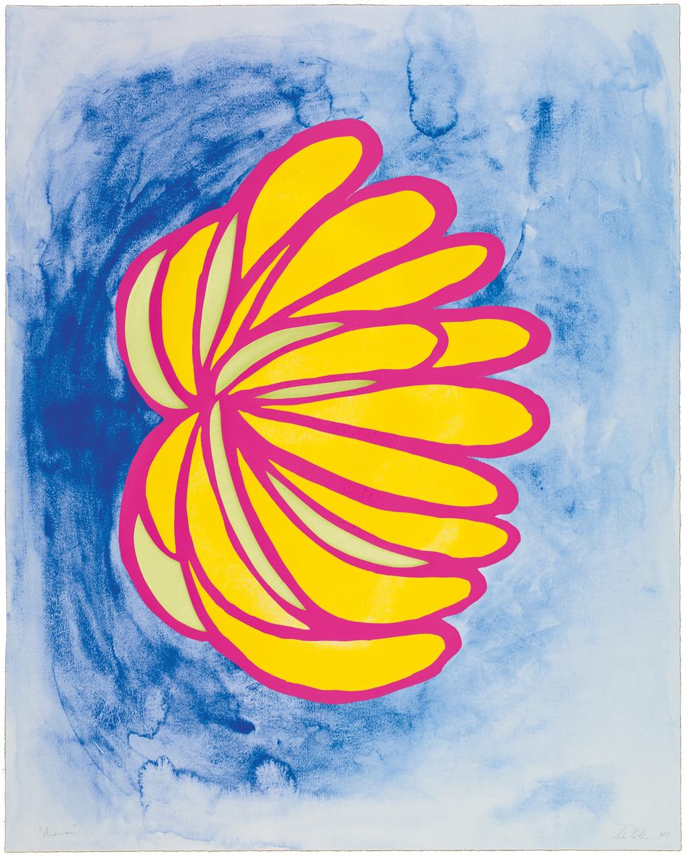 Leda Catunda  Anemona • 2014   Xilogravura sobre gravura em polímero Edição: 60   90 x 72 cm