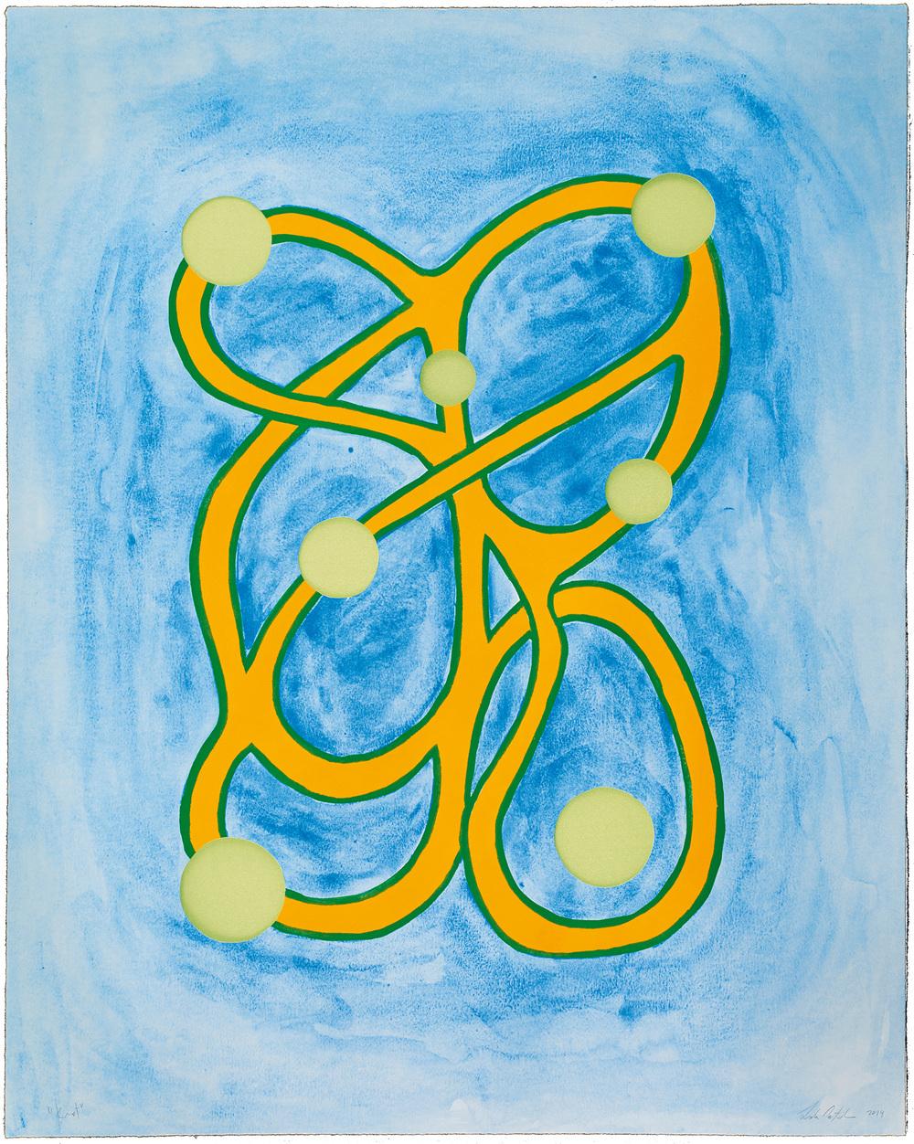 Leda Catunda   Knots • 2014   Xilogravura sobre gravura em polímero Edição: 60   90 x 72 cm
