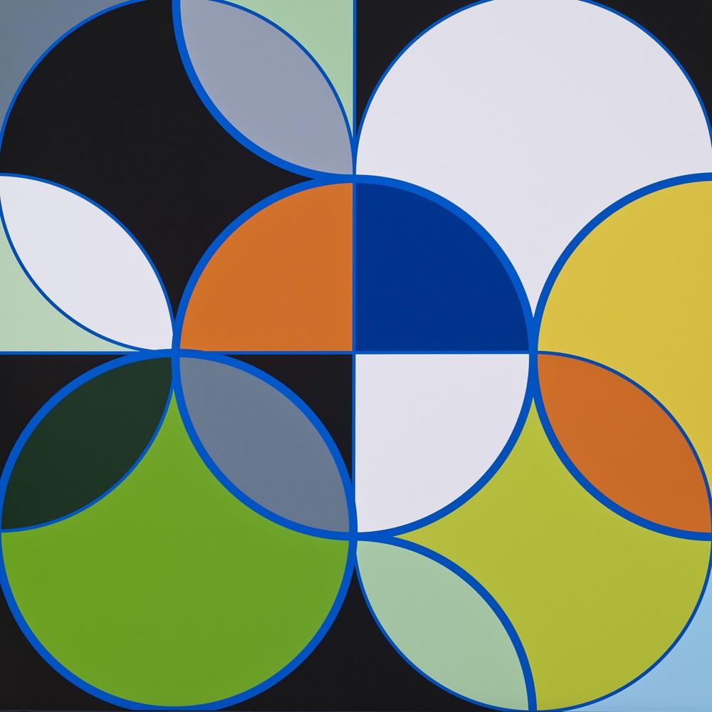Sarah Morris    Academia Militar    •  2014 Serigrafia Edição: 45 Sem moldura  •  75 x 75 cm