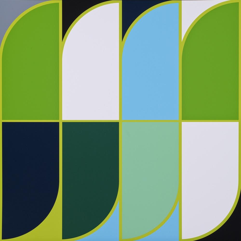Sarah Morris     Jardim Botânico   •  2014 Serigrafia Edição: 45 Sem moldura  •  75 x 75 cm
