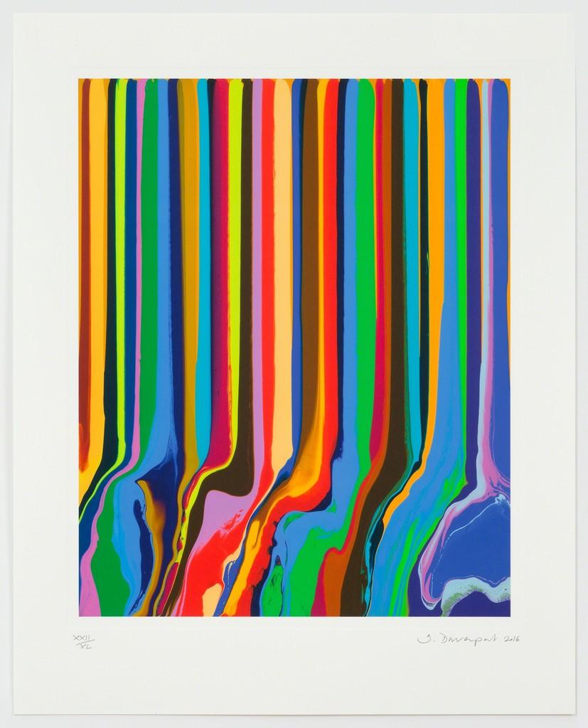 Ian Davenport  Chromatastic L'Officiel  2016  impressão em papel  papel: 65.0 x 51.8 cm/ com  moldura: 71 x 58 cm