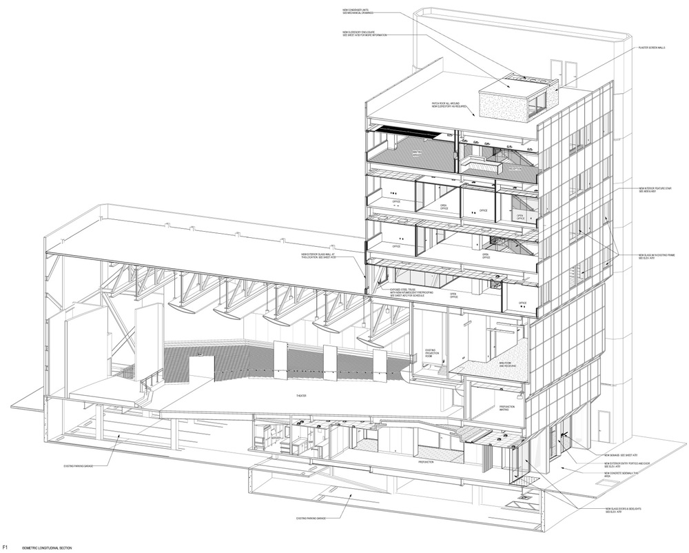 Isometric Section Through Building