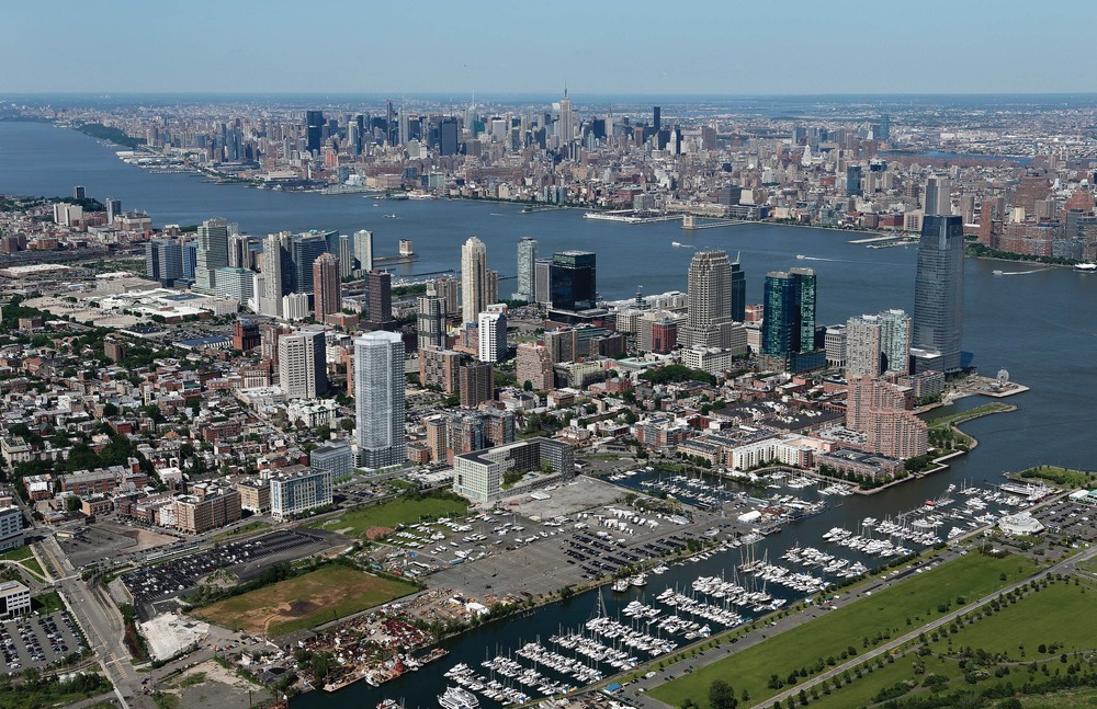 aerial of jersey city