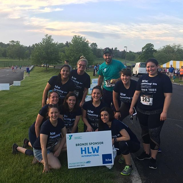 HLW NJ team at the Mind Matters run, proud to sponsor the Madison YMCA #ymcamadison #themindmatters5k