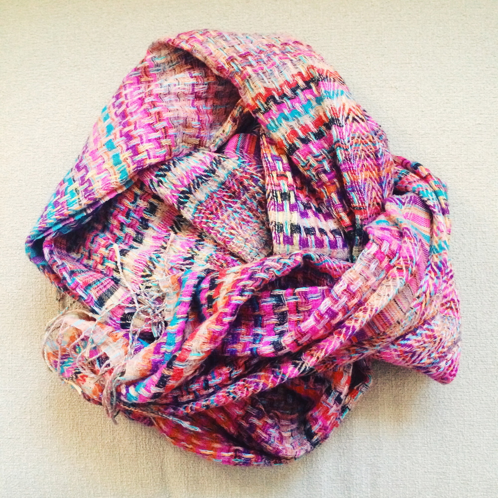 a light but warm scarf for this fickle weather.