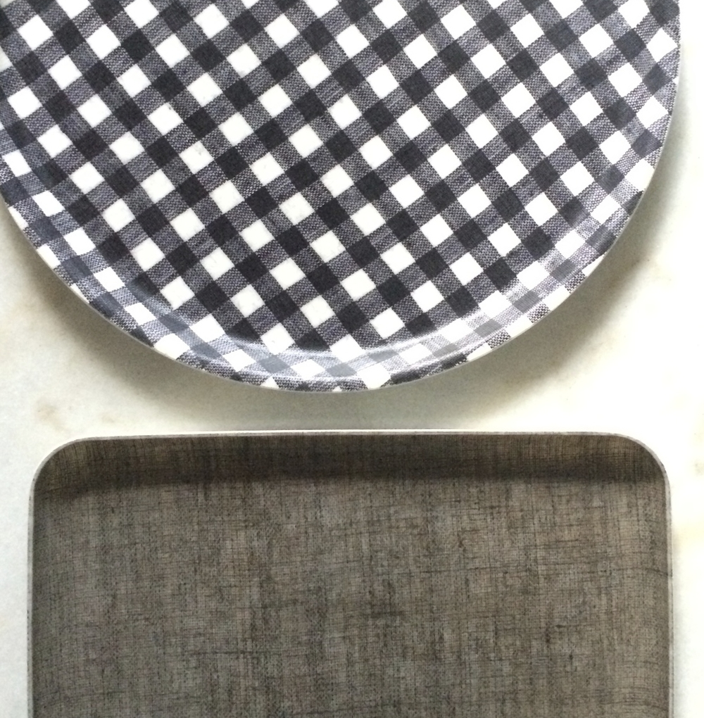these pressed linen trays, also from the same lovely store.
