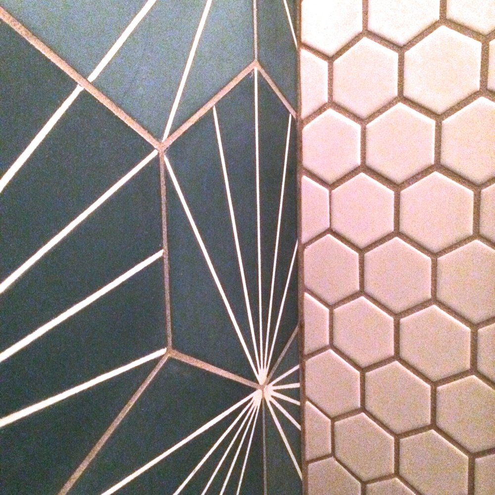 contrasting geometric tile at  fung tu .