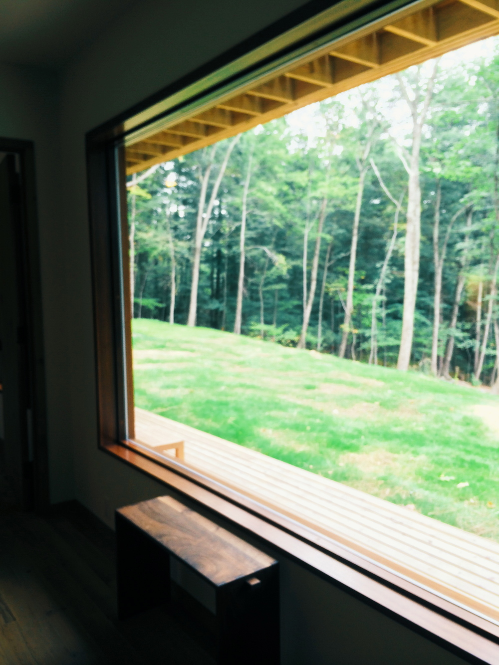 a view out one of the windows on the lower level.