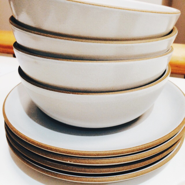 these bowls and plates from coupe line at  heath  ceramics, which i can't get enough of.