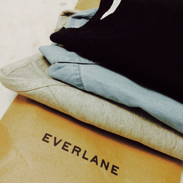 a package from everlane, with some of my new favorite pieces.