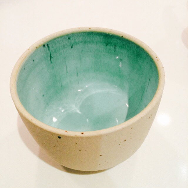 this beautiful  matcha bowl , picked up at  umami mart  in oakland.