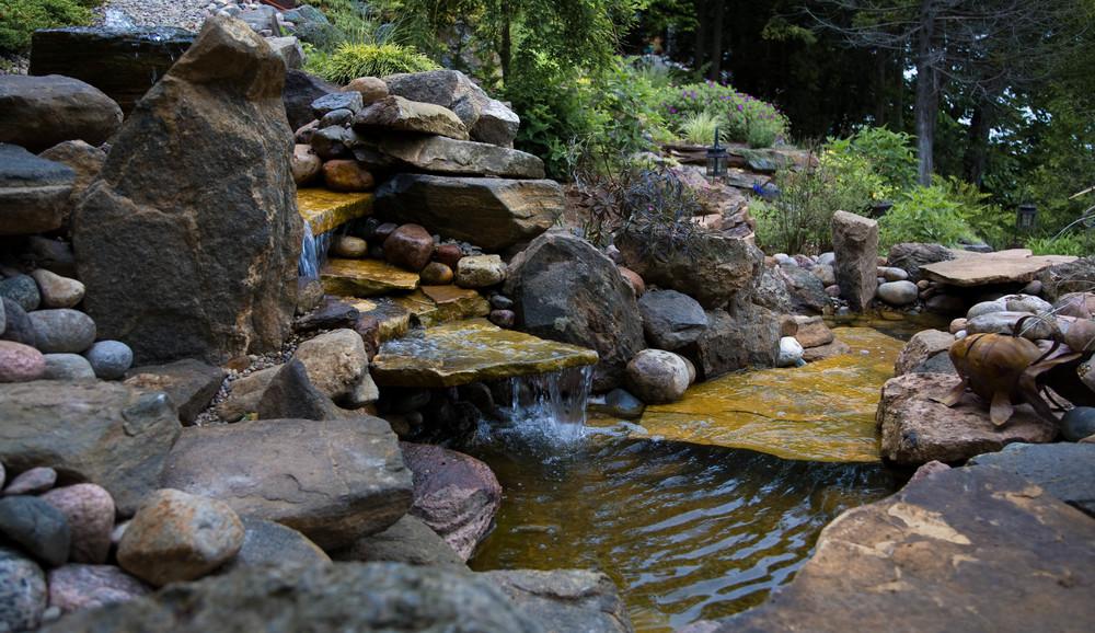 Lakeside Granite Waterfalls
