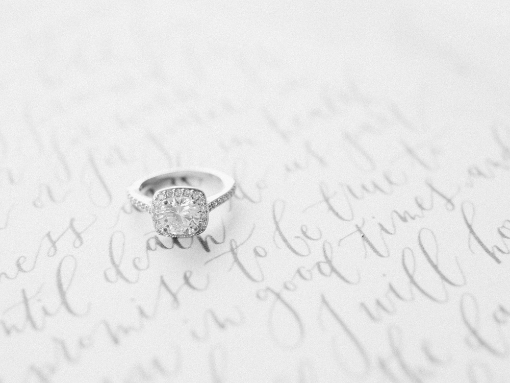 ring with calligraphy vow
