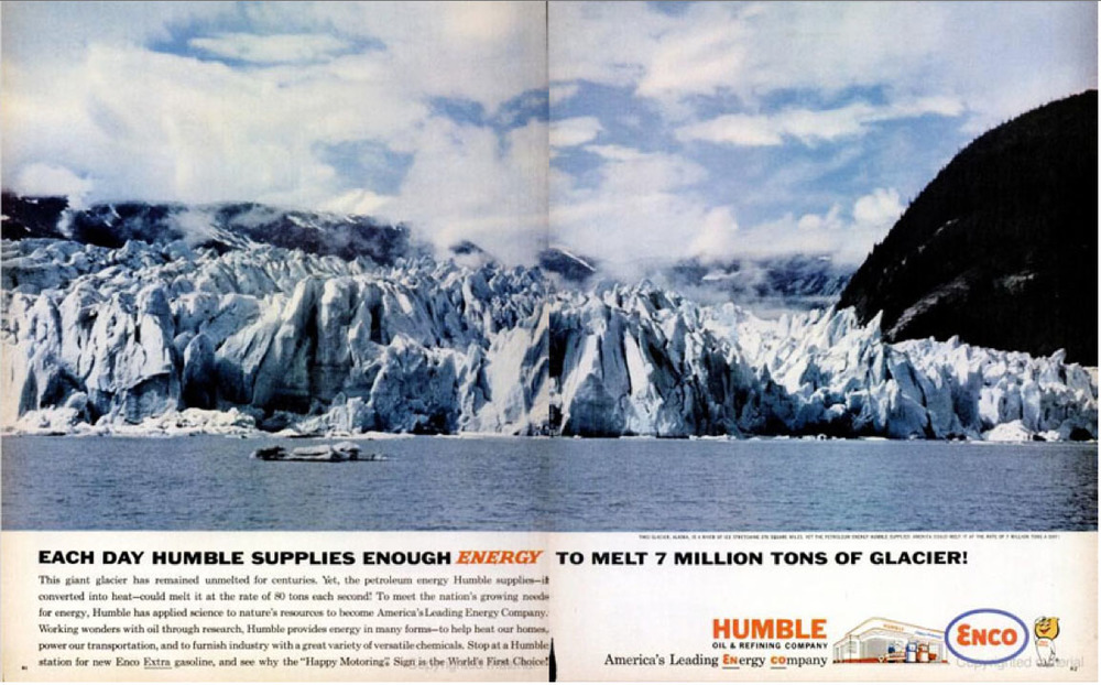 1962 Humble Oil and Refining ad, now part of ExxonMobile