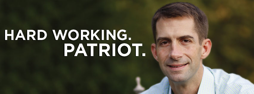 Tom Cotton's messages are always direct, sometimes with more periods than necessary.