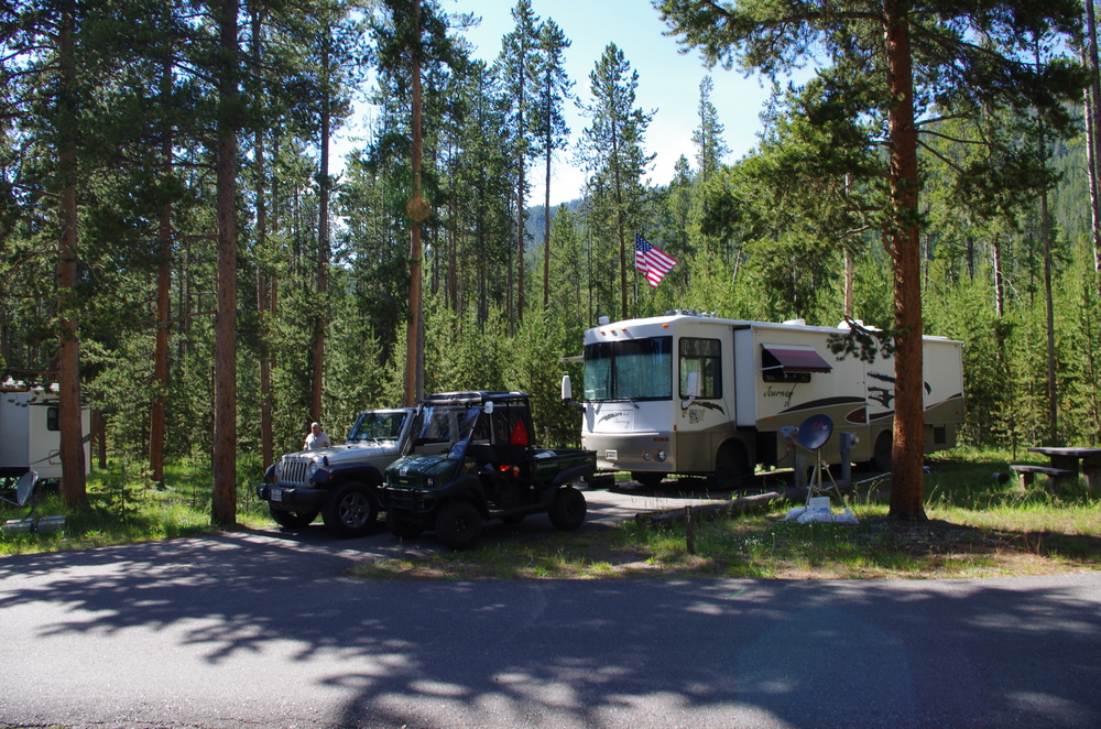 What camping, roughing it and the Great Outdoors means to many. // Madison Campground, Yellowstone National Park.