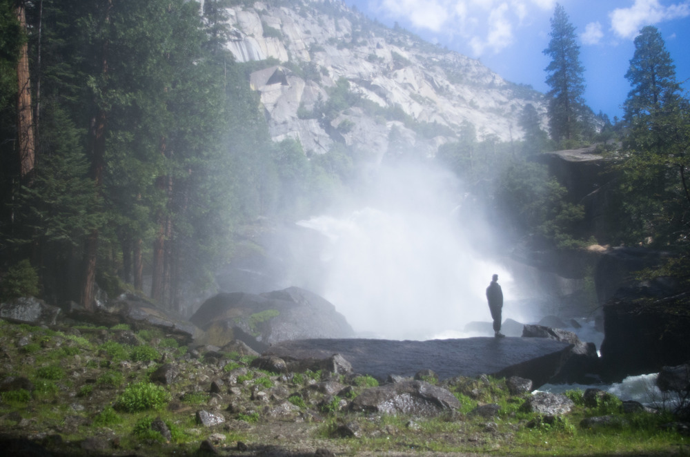 Spring melt surging through Mist Falls. KIngs Canyon National Park, California