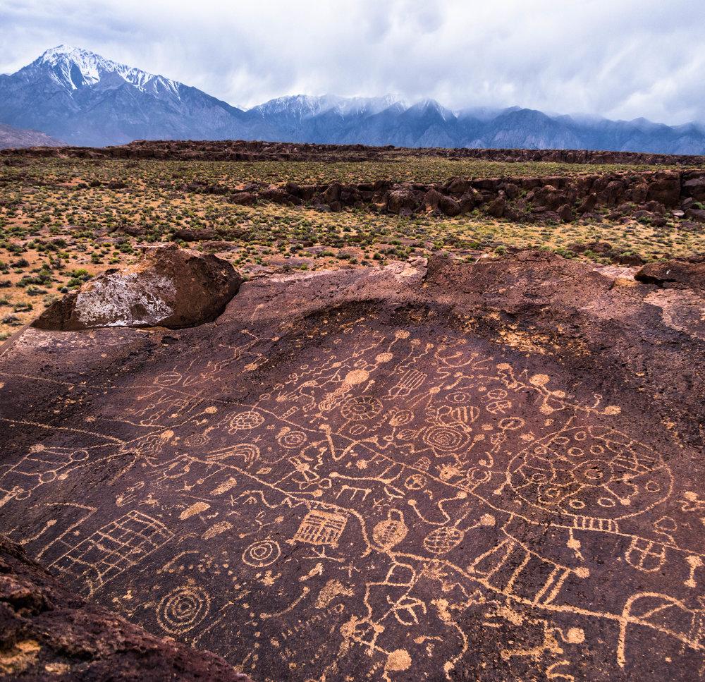 Petrogloglyph.   Location Unknown