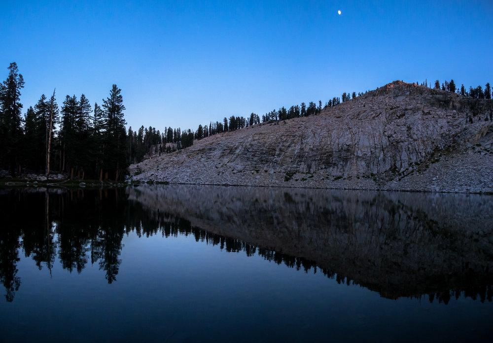 Last light on Peak 9,612 above Jennie Lake.  Jennie Lakes Wilderness, California