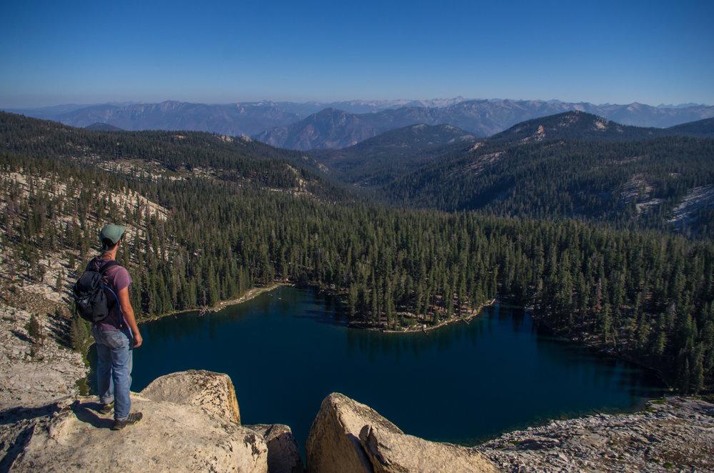 Summit of Peak 9,612 looking over the Jennie Lakes Wilderness. Jennie Lakes Wilderness, California