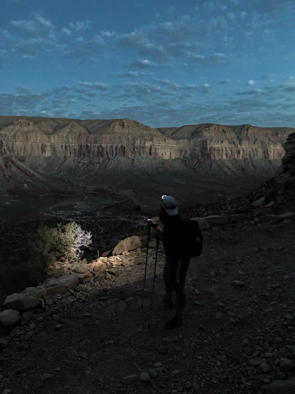 Dawn light over Havasu Canyon. Havasupai Indian Reservation