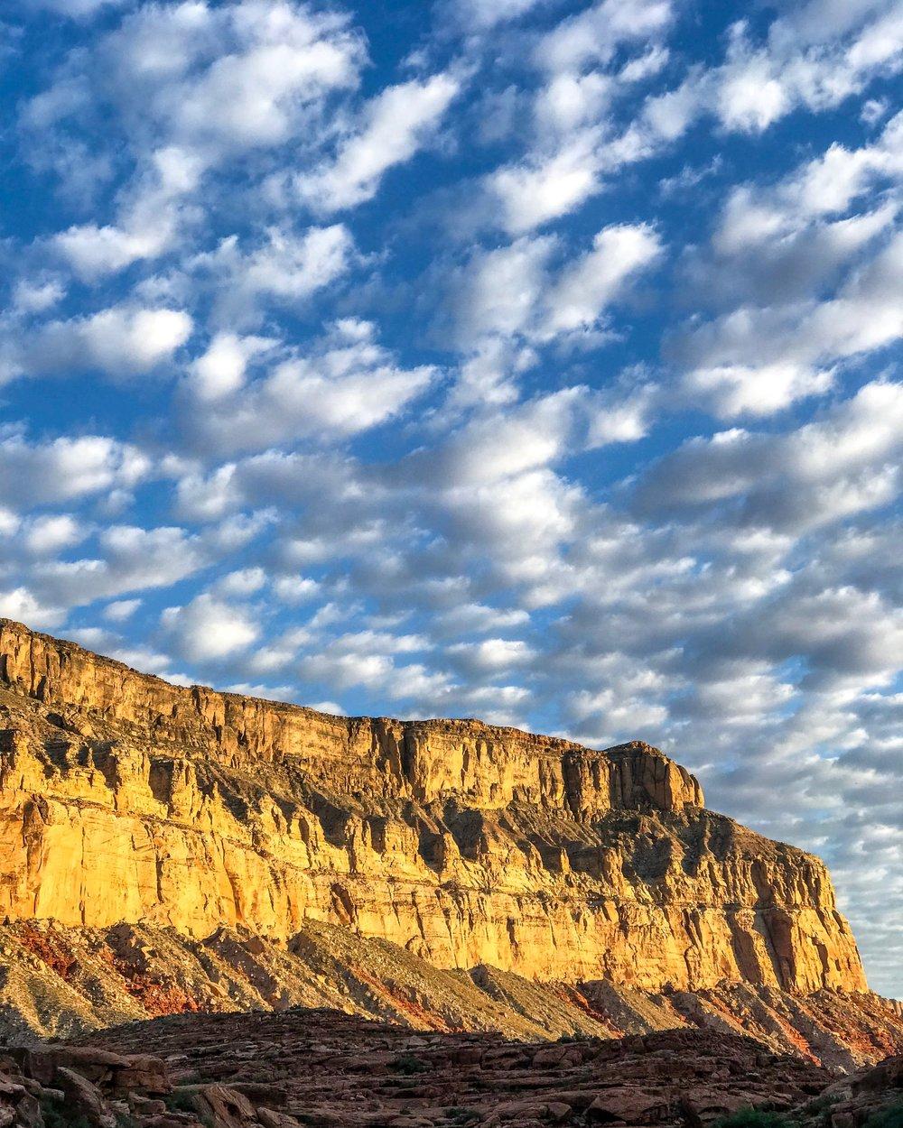 Clouds over Havasu Canyon. Havasupai Indian Reservation