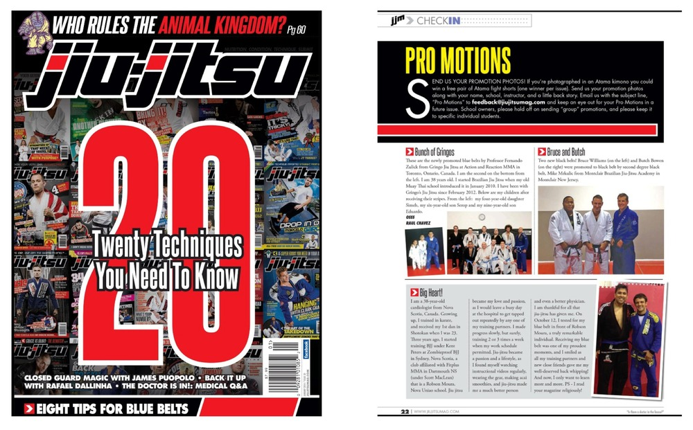 My belt promotion was featured in Jiu Jitsu magazine!