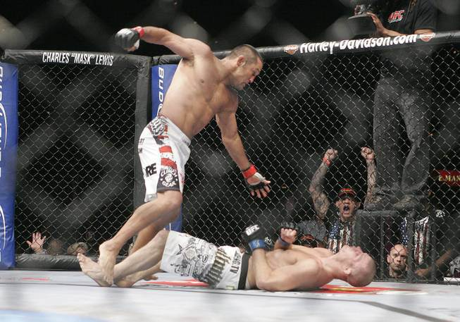 Dan Henderson KO's Michael Bisping at UFC 100....and then again. Courtesy: UFC