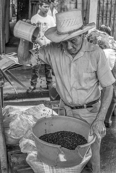 Man With Coffee Beans