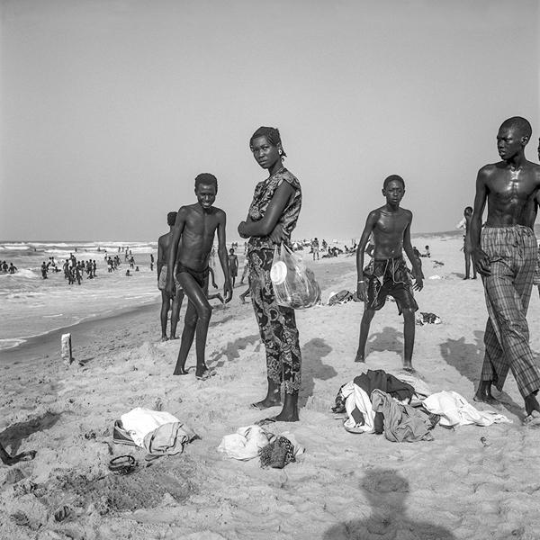 Woman and Boys on a Beach