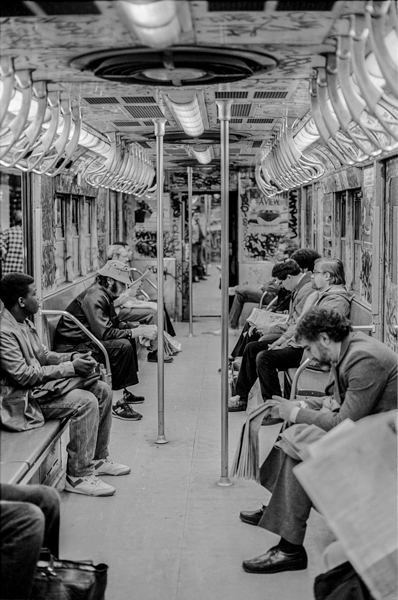 Subway Car and Passengers