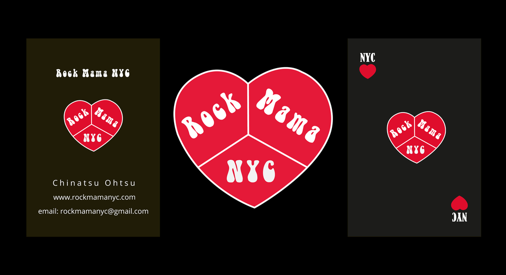Rock Mama NYC Logo Business Cards
