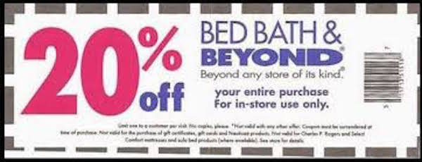 Bed bath and beyond coupon code 20 off entire purchase