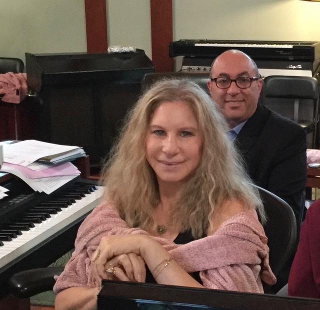 Barbra Streisand and Jay Landers