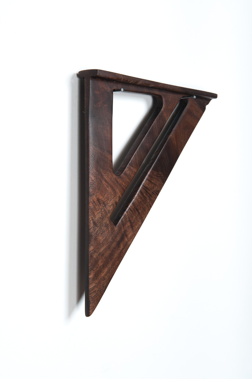Speed Square, Series 1  2011  Black Walnut wood  7 in. x  7  1/4 in. x  3/4 in.