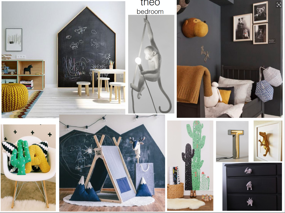 concept boards - Boy Bedroom