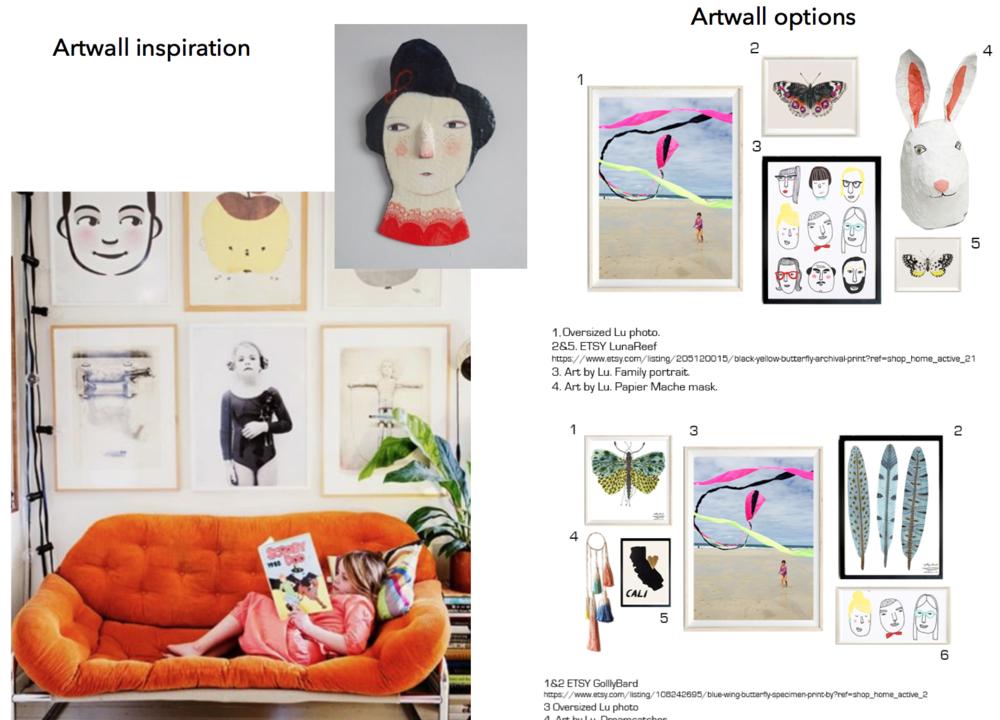 concept boards - Art Wall Girl Bedroom
