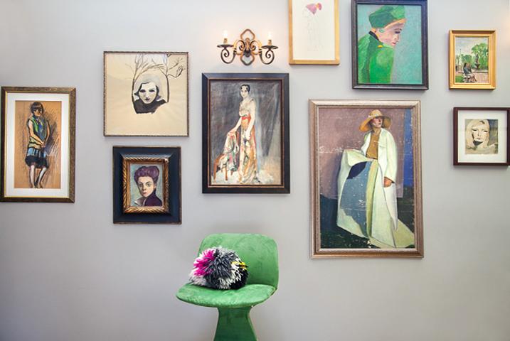 portrait wall gallery - Vintage & Contemporary