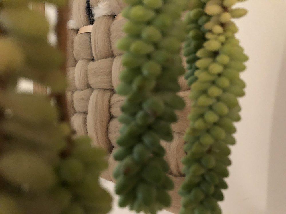 custom yarn wall art detail - Seven Sundays Studios