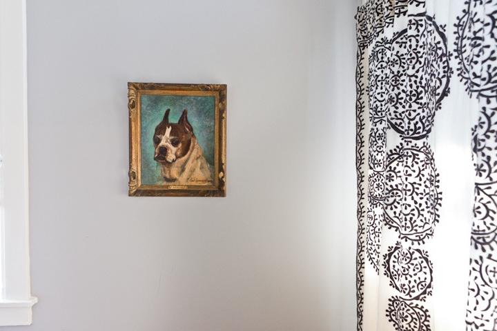 vintage dog portrait - Paris Flea Market